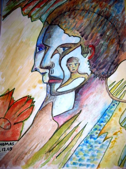 PSYCHOSIS - PAINTING by THOMAS MILNER
