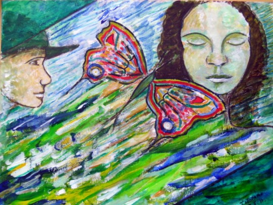 DREAM OF BUTTERFLY - PAINTING by THOMAS MILNER