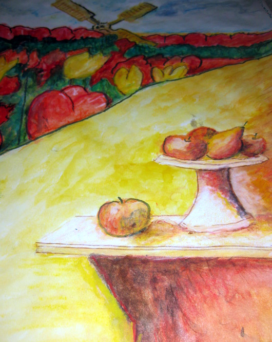 STILL LIFE WITH FRUIT - PAINTING by THOMAS MILNER